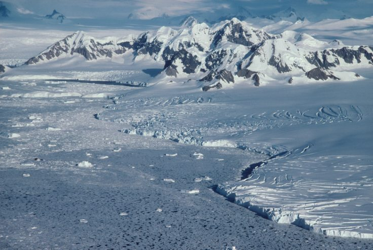 Aerial view of Marguerite Bay.