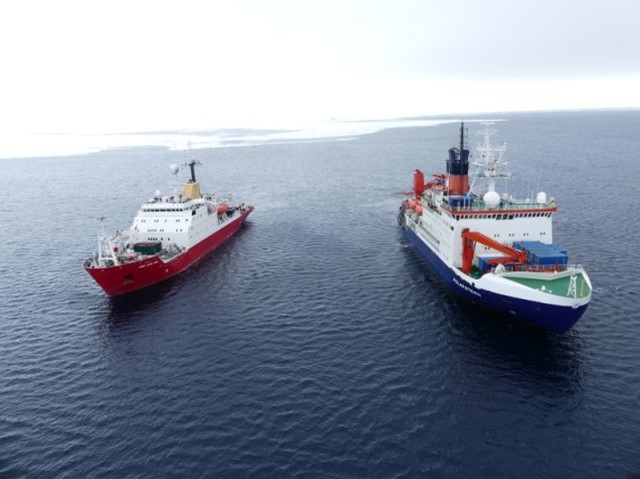 Polarstern and the RRS James Clark Ross