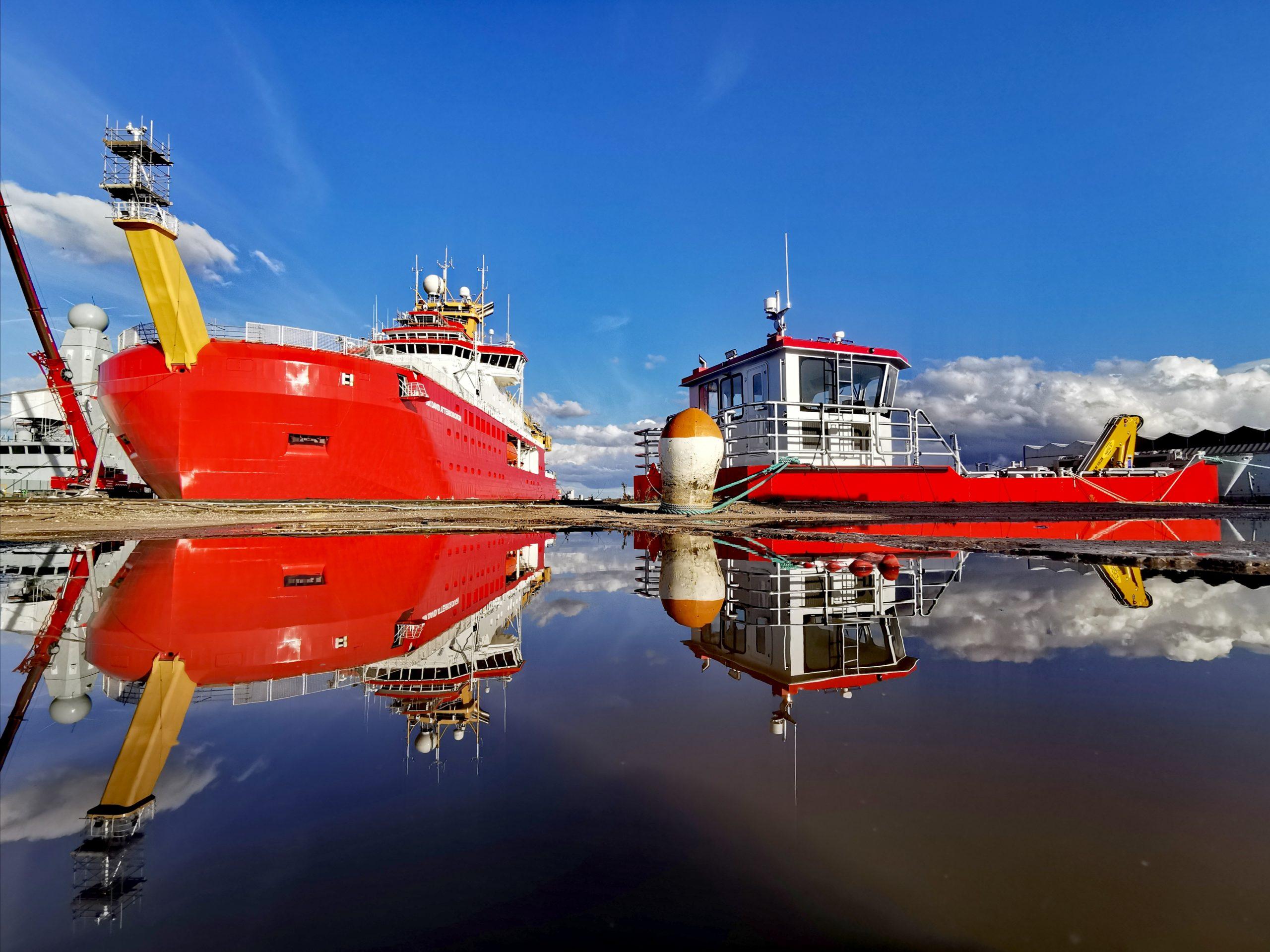 RRS Sir David Attenborough and her cargo tender Terror
