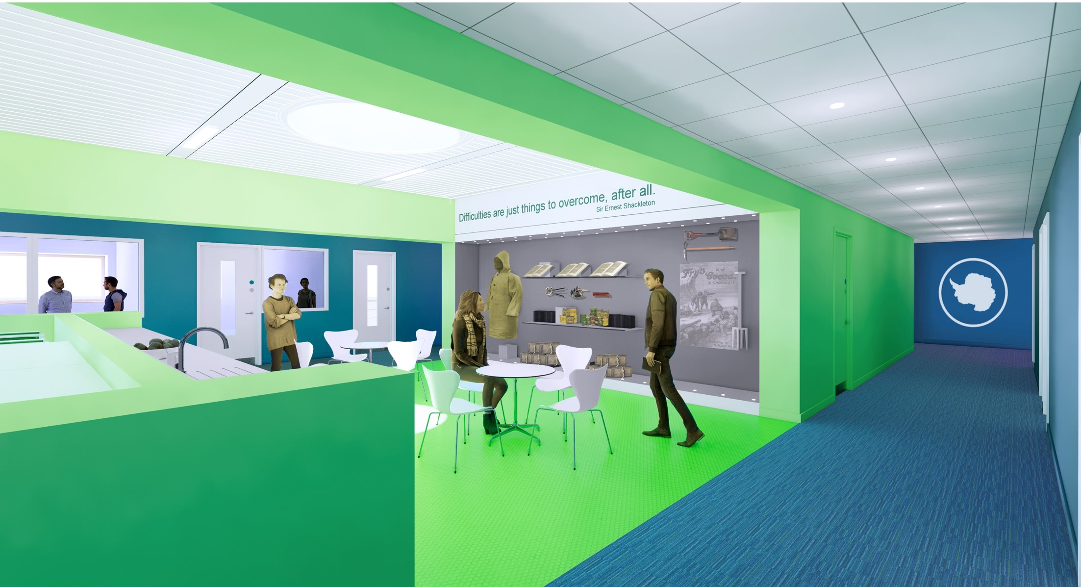 Visualisation of break-out space in new Discovery Building