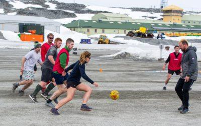 Playing football at Rothera