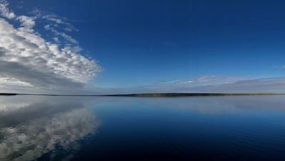 A view of a body of water at Mare Harbour, Falklands