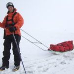 Amelie Kirchgaessner pulling a sledge