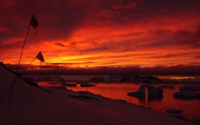 Photo of sunset at Rothera Point