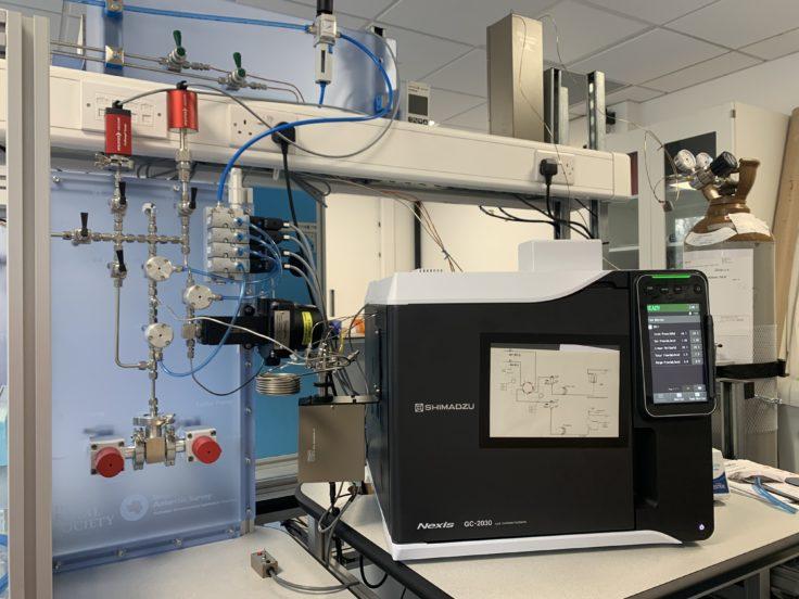 GC and standard/sample handling system