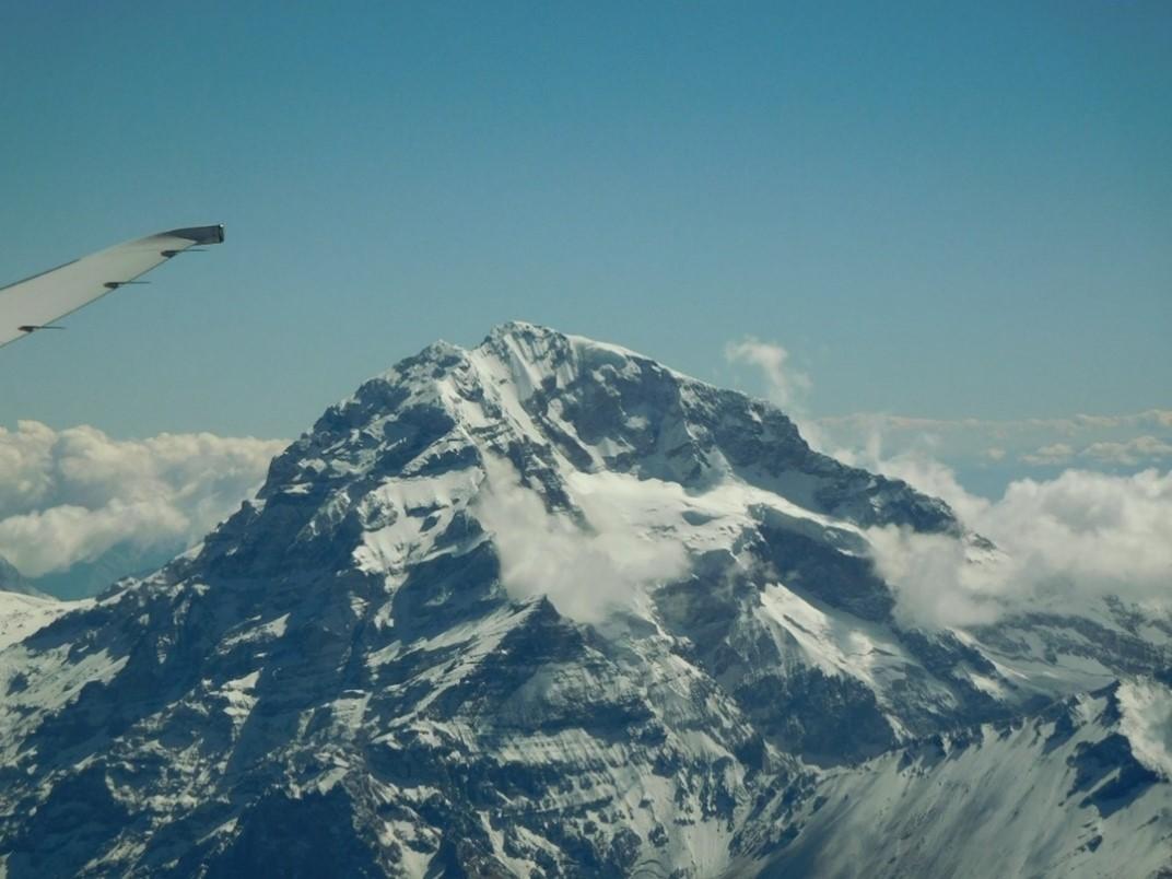 Flying over Mount Aconcagua