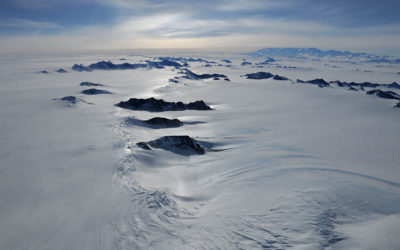A close up of a snow covered slope