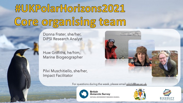 A poster with photos of the Polar Horizons Core organising team