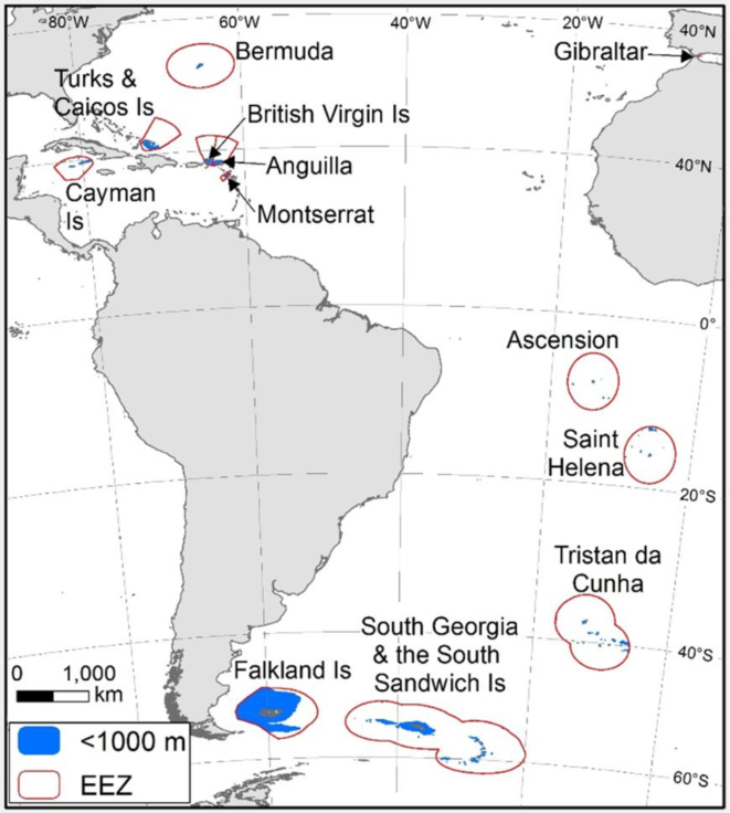 Map of Antarctic and South America