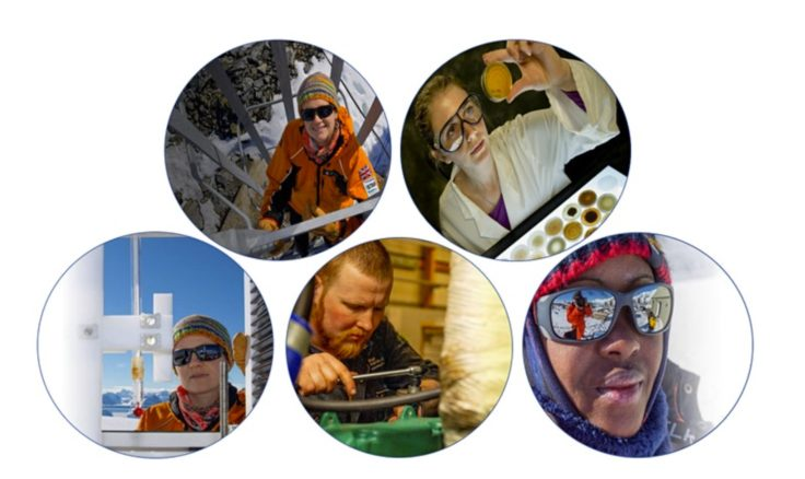 Profile photographs of scientists and engineers and support staff
