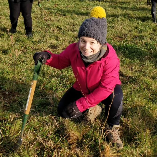 Photo of Natalia Ford at a tree planting event