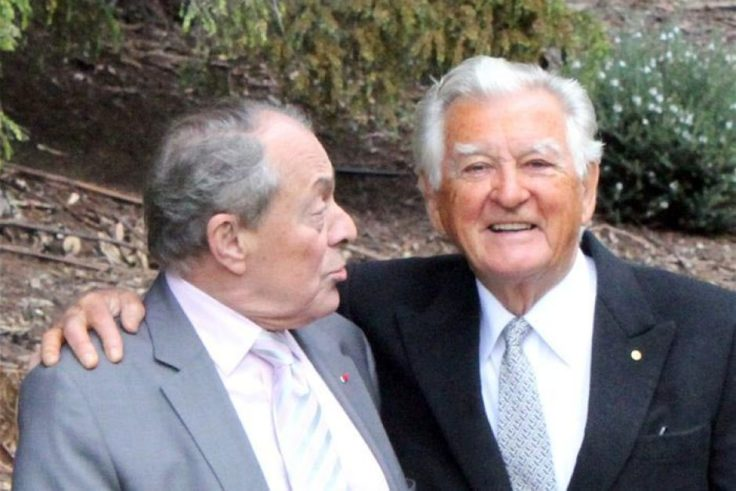 Bob Hawke wearing a suit and tie